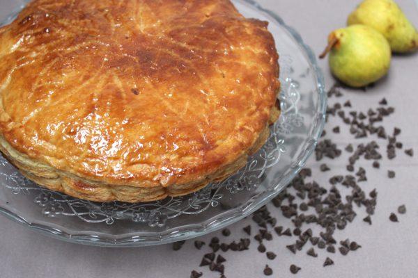 Galette des rois poires, caramel au beurre salé et chocolat *recette*